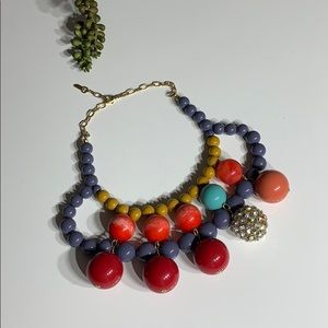 Anthropology Chunky Beaded Necklace